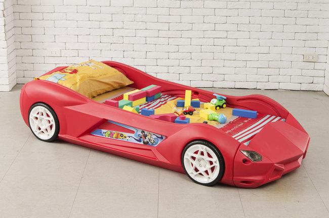 kinderbett rennauto jugendbett bett rennwagen sportauto. Black Bedroom Furniture Sets. Home Design Ideas